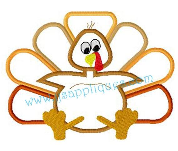 Instant Download - Bird Embroidery Applique Designs Turkey Thanksgiving Designs Fall Designs - Baby Turkey 4x4, 5x7, 6x10 hoop sizes