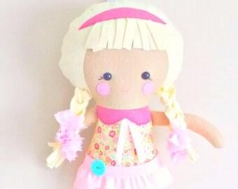 BACK 2 SCHOOL SALE 18 inch Rag Doll - Toy Plush - Dolls and Daydreams Doll