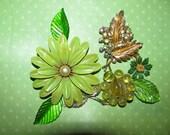 Vintage Destash Enamel Small Flower Earrings Rhinestone Jewelry Craft Lot