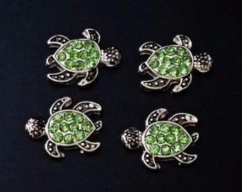 1 pcs Sparkle Turtle   Floating Charm for Living, Memory locket /E3