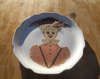 Handmade folk art plate