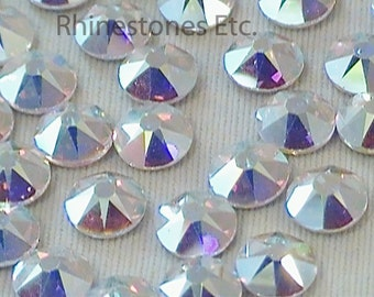 Crystal AB 20ss Swarovski Elements Rhinestones, Flat back 1 gross (144 pieces)