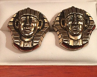 Original Vintage SWANK Designer Collection Egyptian Cufflinks