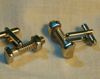 Vintage Nuts and Bolts Cufflinks