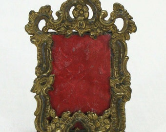 Photograph Frame, Photo Frame, Miniature Photo Frame, Miniature Easel Stand Frame, Brass  Photo Frame (004)