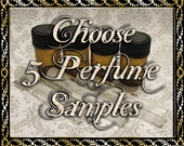 Perfume Oil Samples: Choose Five (5) 1mL or 2mL Samples, Perfume Oil, Cologne Oil, Artisan Fragrance, Ships Out in 4-7 Days