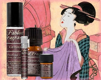GEISHA Perfume: Japanese Floral, Green Tea, White Lotus, Soft Musk, Jasmine Sambac, Vegan Solid Perfume, Ships Out in 4-7 Days