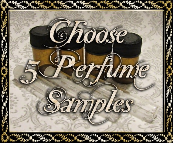 Perfume Oil Samples: Choose Five (5) 1mL or 2mL Samples, Perfume Oil, Cologne Oil, Artisan Fragrance, Ships Out in 6-10 Days
