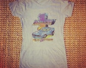 Vintage Camaro Rules The Road Iron On Handpressed on Women's XL Gray Shirt