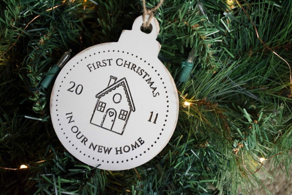 New Home Christmas Ornament, First Christmas in our new house, Moving Gift, Housewarming Present, First Married Christmas, New Home Gift