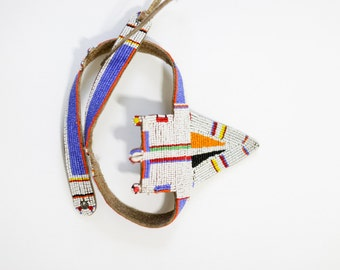 Maasai Tribal Beaded Belt. // Wedding Accessories. Ethnic Warrior. // Wedding Gifts, display. // African Trade Beads, Beadwork.