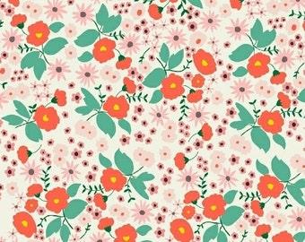 Packed Floral (White) - Maribel - Annabel Wrigley - Windham Fabrics - 1 Yard
