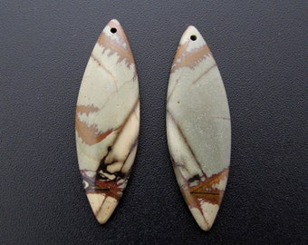 Beautiful Cherry creek jasper earrings pair, beads, Natural stone, dangle earrings, Jewelry making supplies S7199