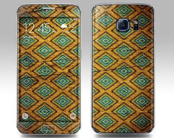 TRIBAL WOOD Galaxy Decal Galaxy Skin Galaxy Cover Galaxy S6 Skin, Galaxy S6 Edge Decal Galaxy Note Skin Galaxy Note Decal Cover