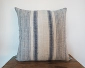 "Hemp ,20""x20""Vintage Textile Decorative Cushion cover, Tradition Ethnic fabric from Thailand"