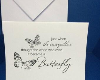 1 Butterfly card, blank inside