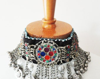 Rainbow Indian choker headdress festival necklace