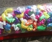 Colorful Plastic Animal Beads
