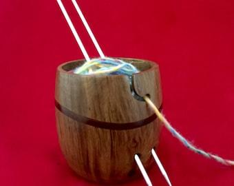 Walnut Wood Yarn Bowl KB 117