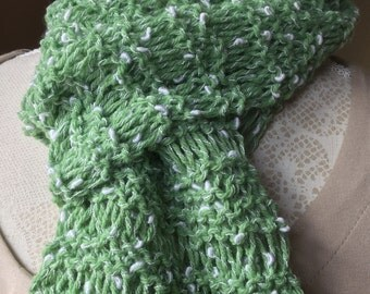 Lightweight Ladies Scarf, Soft to wear, Easy Care, (Apple Pale Green)  Adult Teens. Great accessory. Any Season