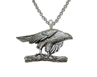 Hawk Bird Pendant Necklace
