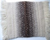 Vintage Neutral Colored Patterend Woven Wool Pillow Cover Unfinished
