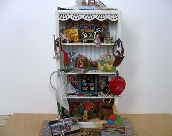 Dollhouse Miniature One Inch Scale Toy Shelf