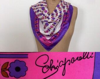 Schiaparelli large silk floral scarf