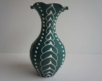 Vintage Larholm Pottery Vase from Norway Mid Century Modern Rare Signed