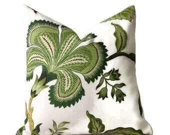 Schumacher Hothouse Flowers Pillow, Decorative Throw Pillow Cover Toss Pillow, Accent Pillow