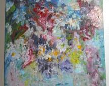 Flowers A La Mode,Vase of Flowers, Abstract Impressionism, Original Oil, Impressionism, Malerei Blumen, Kathleen Leasure, FromGlenToGlen