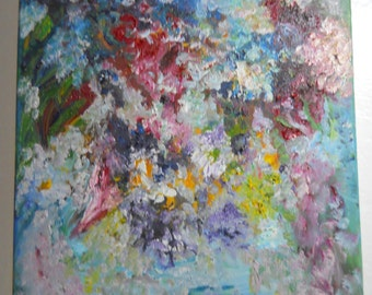 Flowers A La Mode,Vase of Flowers, Abstract Impressionism, Original Oil, Impressionism, Malerei Blumen, Kathleen Leasure, FromGlenToGlen