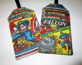 Captain America Luggage Tag Gift Card Holder Marvel Avengers Comic Collectible Kids ID Hero Children Backpack travel accessory
