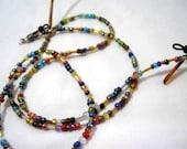 Bugle Beads and Seed Beads Sunglasses Lanyard, Eyeglass Necklace Chain