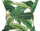 Outdoor Green Pillow Cover, Green Pillow, Leaf Pillow, Decorative Pillow, OUTDOOR Pillow, Accent Pillow, Pillow, Tommy Bahama Pillow, cm