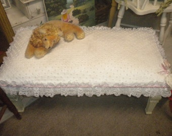 Large Shabby chic Bench, OOAK Bench, French Country, Girl's Room