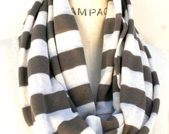 Striped infinity scarf, gift ideas for women, Infinity Scarf Scarves, Winter Scarf, loop  Cowl Scarf  Soft Scarf   - by PiYOYO