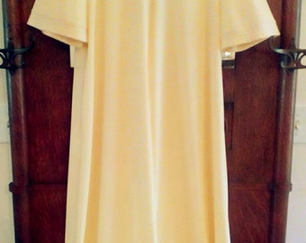 70's JcPennys Mustard Color Woman 's Robe & Gown Set Size M