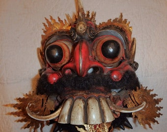 Weird and Scary Indonesian Mask