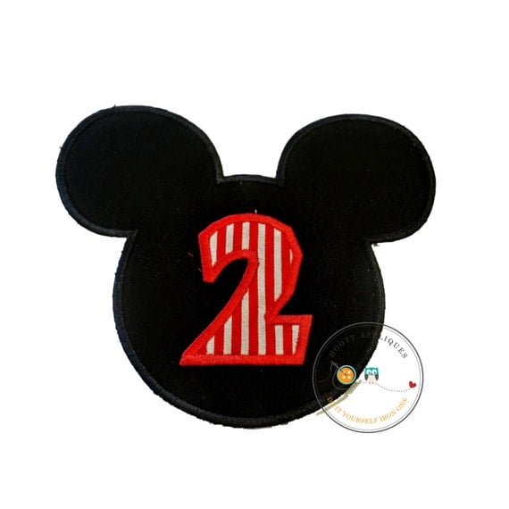 Red And Black Mouse Birthday Number 2 With Red By