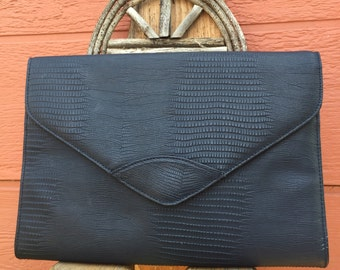 1980's Vintage Blue Shoulder Bag