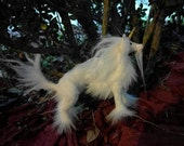 Mini White Unicorn Stag Posable Art Doll OOAK