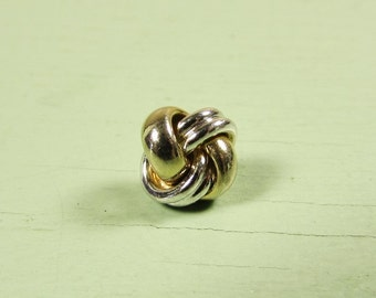 Knot Tie Tack - Vintage Gold Silver Two Tone