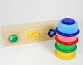 Developing wooden stacking puzzle for young children ( age 9 months - 2years )