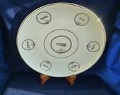 Judaica vintage Limoges, France 12 inch porcelain Passover Seder plate