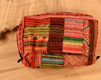 tribal purse with feather and crystal