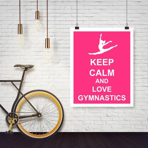KEEP CALM AND DO GYMNASTICS Poster | Ele | Keep Calm-o-Matic  |Keep Calm Gymnastics