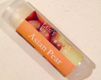 Asian Pear Lip Balm, Natural Beeswax Chapstick from Lee the Organic Beekeeper