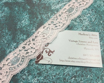 White lace, 1 yard of 1 1/4 inch White Chantilly lace trim with for bridal, baby, lingerie, accessories by MarlenesAttic - Item 2S