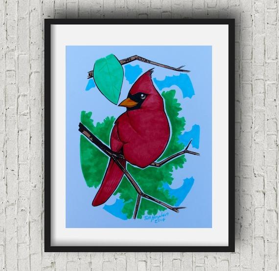 Bird Nursery Decorkids Room Decor Baby Cardinal By Artbypierre